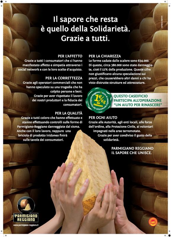 Miniatura per l'articolo intitolato:Il Parmigiano solidale