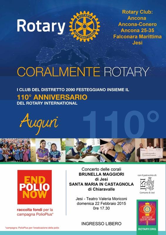 Miniatura per l'articolo intitolato:Coralmente Rotary 2015