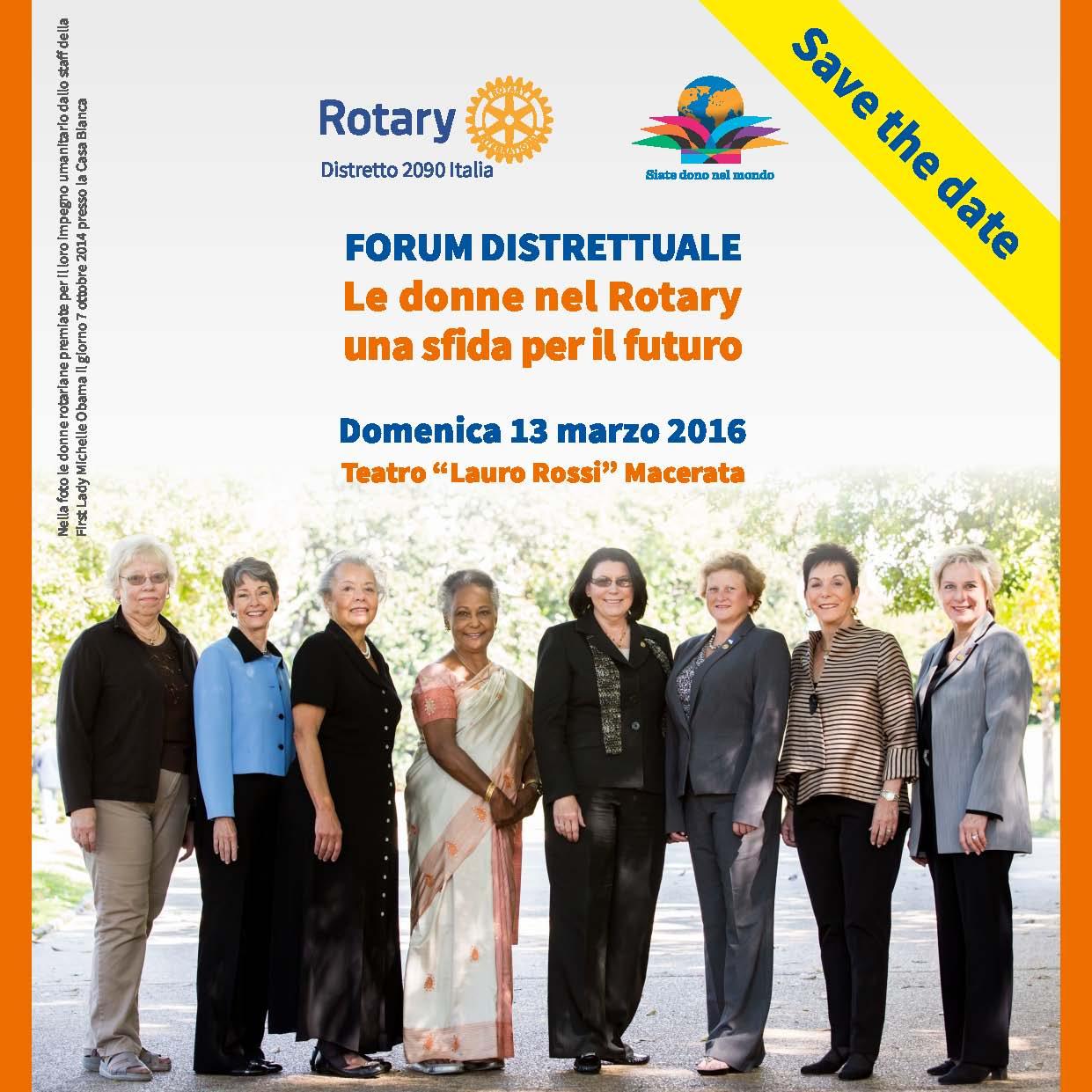 Miniatura per l'articolo intitolato:Forum Distrettuale: Le donne nel Rotary – Una sfida per il futuro