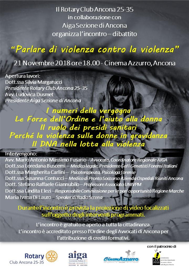 Miniatura per l'articolo intitolato:Parlare di violenza contro la violenza