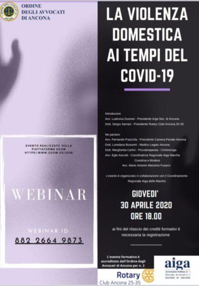 Miniatura per l'articolo intitolato:Conferenza su Violenza domestica ai tempi del COVID-19